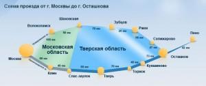 Схема проезда на Селигер из Москвы