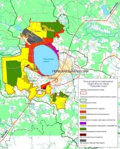 Национальный парк «Плещеево озеро». Карта