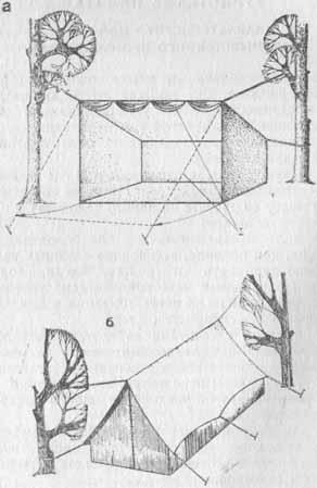 Схема призматических палаток