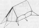 Схема одновременной растяжки крыши и пола палатки