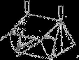 Схема установки тента на открытом месте