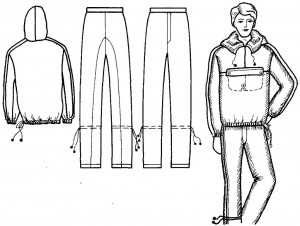 Влаговетрозащитный костюм. Вид