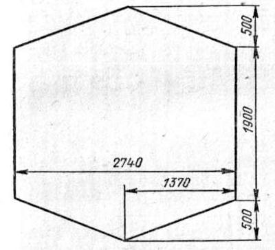 Выкройка тента палатки СПР